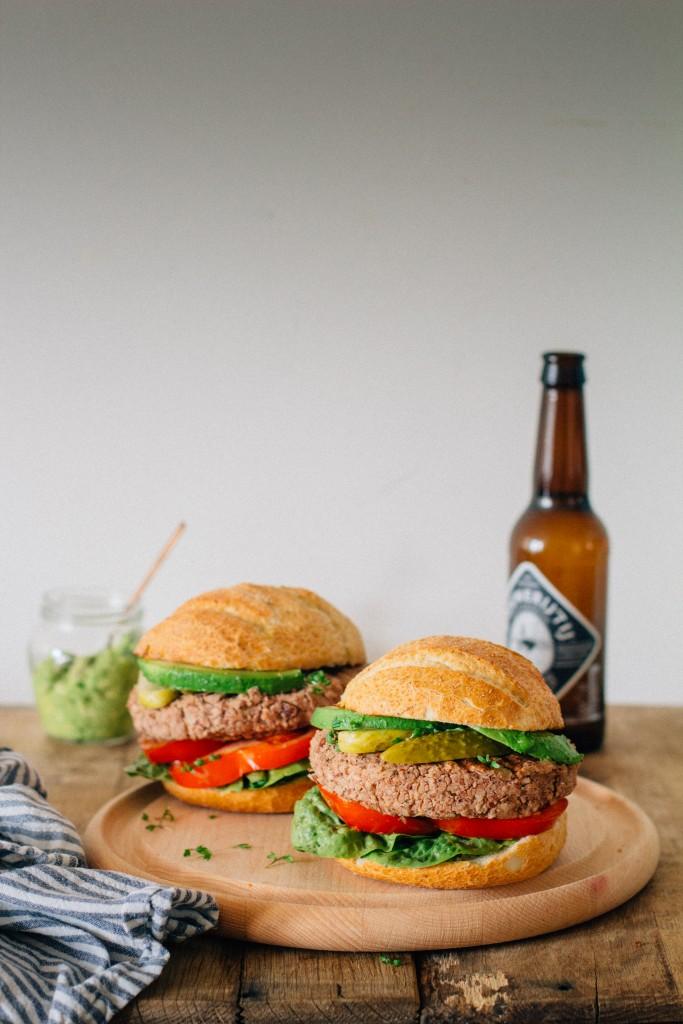 burger vegano fagioli riso